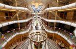 The lobby on the ship